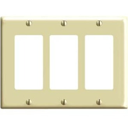 Leviton 3 Socket Commercial Grade Midway Faceplate