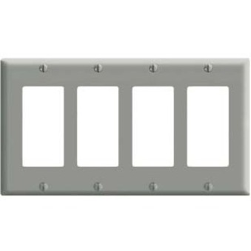 Leviton 4 Socket Commercial Grade Midway Faceplate