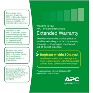 APC by Schneider Electric Service/Support - 3 Year Extended Warranty - Service