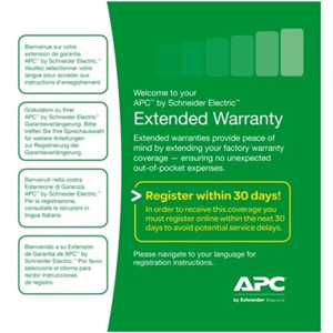 APC by Schneider Electric Service Pack - 3 Year Extended Warranty - Warranty