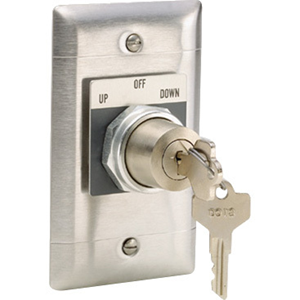 Draper SP-KSM-3-Position Key Switch (Momentary)