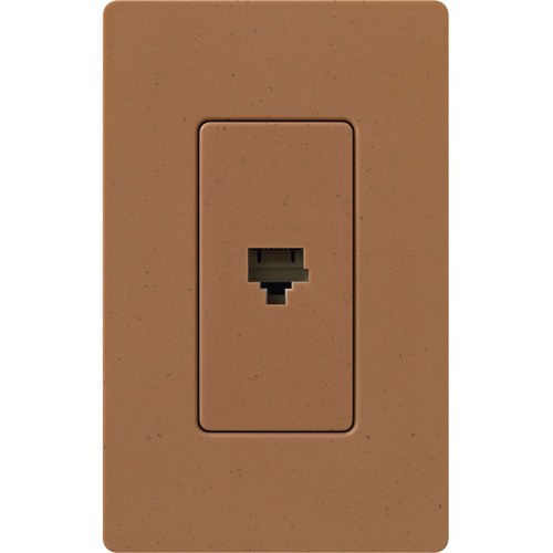 Lutron Satin Colors 1 Socket Telephone Faceplate