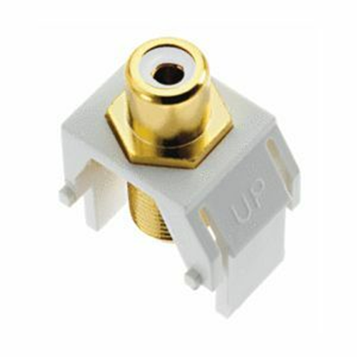 Legrand-On-Q White RCA to F-Connector Keystone Insert, Brown (M20)