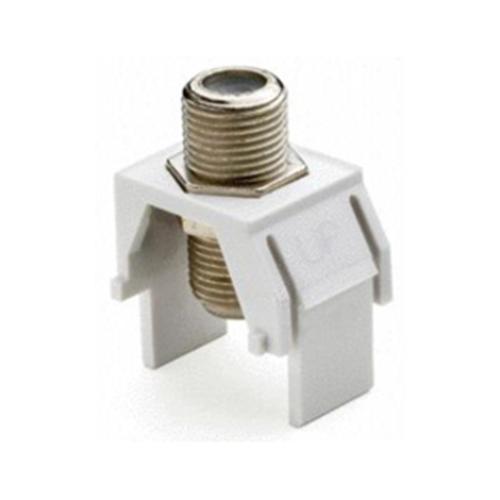 Legrand-On-Q Non-Recessed Nickel F-Connector, White (M20)