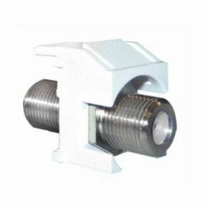 Legrand-On-Q F-Connector Standard Keystone Insert, White, 50-Pack
