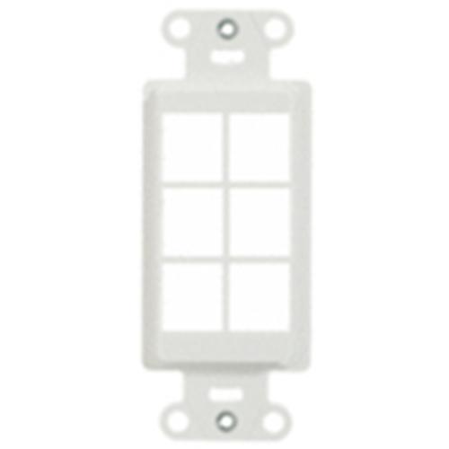 Legrand-On-Q 6-Port Decorator Outlet Strap, White