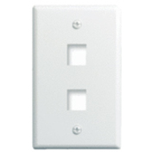Legrand-On-Q 1-Gang, 2-Port Wall Plate, White