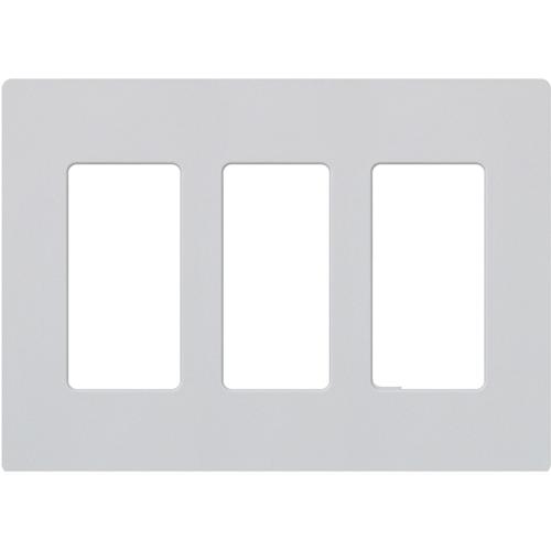 Lutron Satin Colors 3 Socket Faceplate