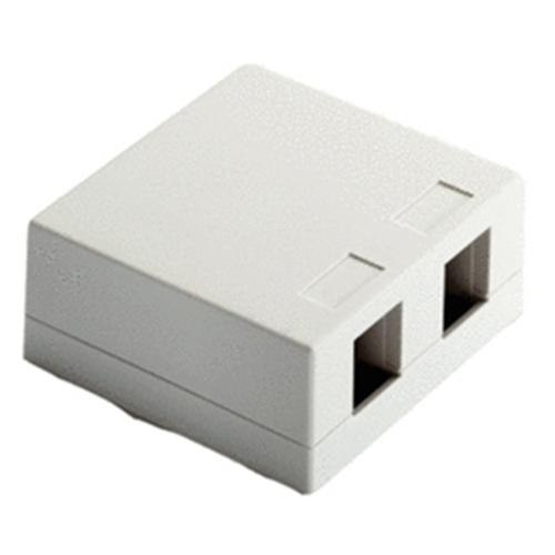 Legrand-On-Q Surface Mount Box, 2-Port, White