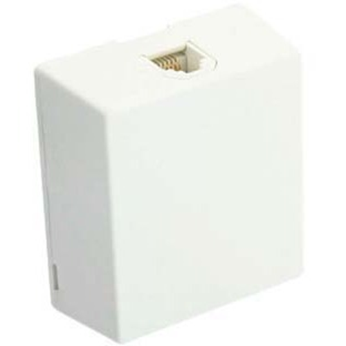 Leviton 4625A-24W 6-Position 4-Conductor Surface Mount Faceplate Module