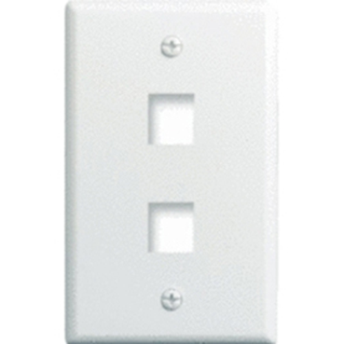 Legrand-On-Q 1-Gang, 2-Port Wall Plate, White 25-Pack
