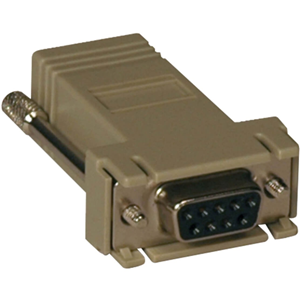 Tripp Lite Modular Serial Adapter Ethernet to Console Server RJ45-F/DB9-F
