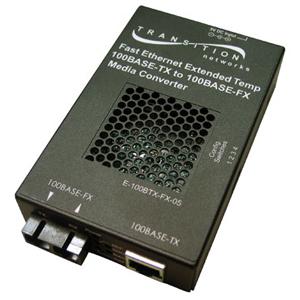 Transition Networks E-100BTX-FX-05(HT) Fast Ethernet Media Converter