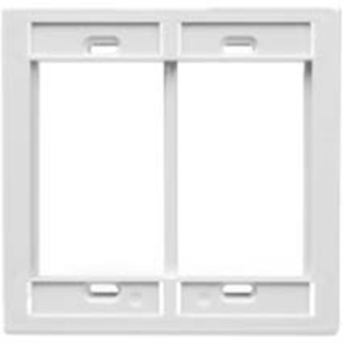 Leviton QuickPort 2 Gang MOS Faceplate