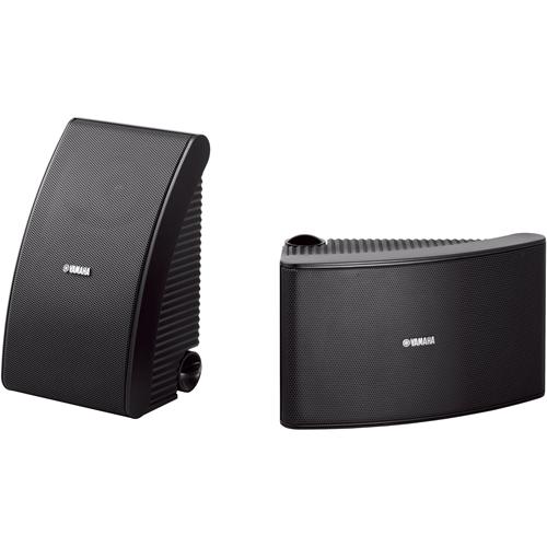 Yamaha All Weather NS-AW392 2-way Bookshelf, Desktop Speaker - 40 W RMS - Black