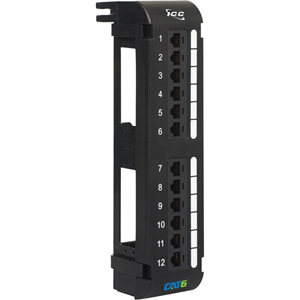 ICC ICMPP12V60 12-port Cat. 6 Network Patch Panel