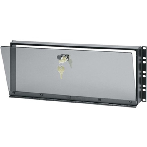 Middle Atlantic Security Cover, 4 RU, Hinged Plexi