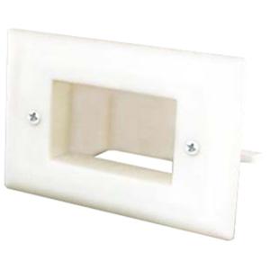 DataComm 1 Socket Easy Mount Low Voltage Slim-Fit Faceplate
