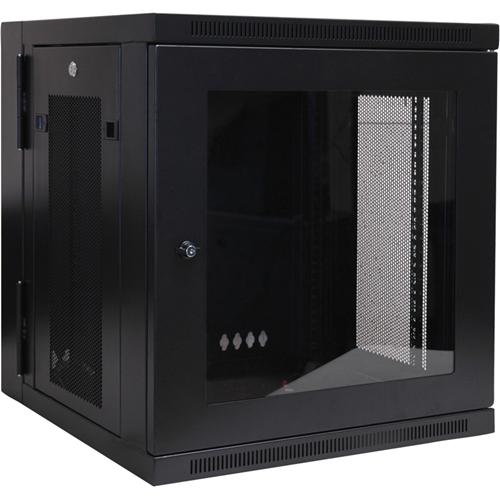 Tripp Lite 12U Wall Mount Rack Enclosure Server Cabinet Hinged Swinging Acrylic Window