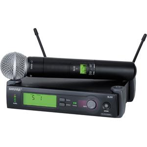 Shure SLX24/SM58 System with SLX2/SM58 Handheld Transmitter