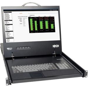 "Tripp Lite 8-Port Rack Console Cat5 KVM Switch 1U RM 19"" LCD Rackmount"