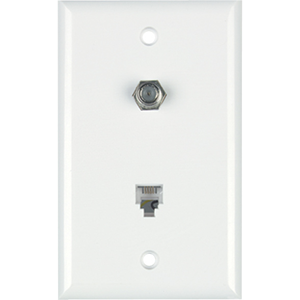 DataComm 40-1512 Color-Rite Single Gang Phone/Coaxial Faceplate