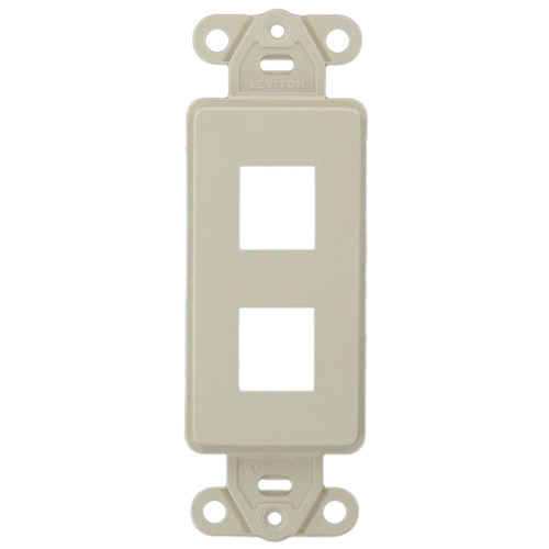 Leviton QuickPort 41642-00T Decora Style Faceplate Insert