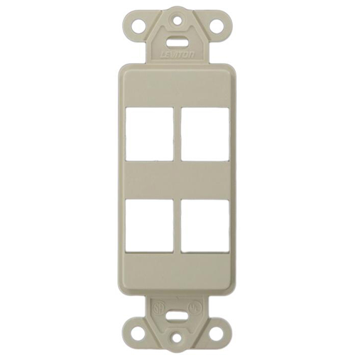 Leviton QuickPort 41642-00T 41644-00T Style Faceplate Insert