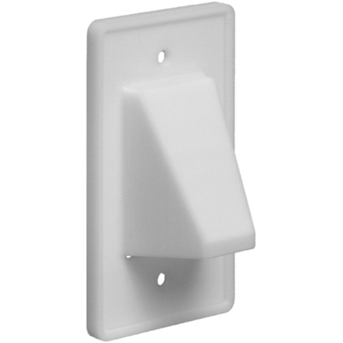 Arlington Scoop CE1 Reversible Single Gang Faceplate