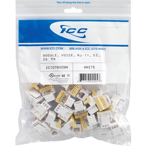 ICC IC1076VCWH Phone Connector
