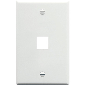 ICC IC107F01WH Single Gang Faceplate