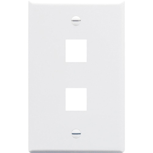 ICC IC107F02WH Single Gang Faceplate
