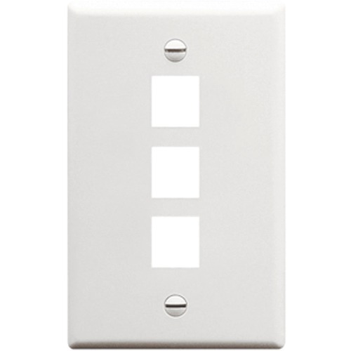 ICC IC107F03WH Single Gang Faceplate