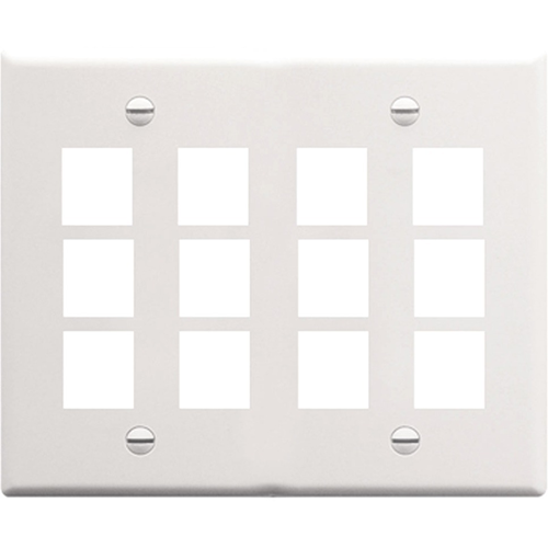 ICC IC107F12WH Double Gang Faceplate