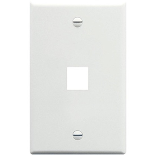 ICC IC107LF1WH Single Gang Faceplate