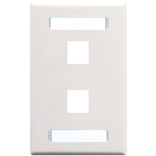ICC IC107S02WH Single Gang Faceplate