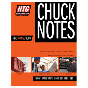 NTC Chuck Notes to the Fire Alarm Codes Printed Manual