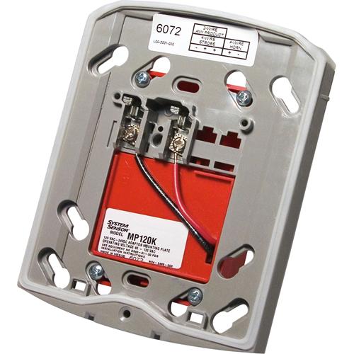 System Sensor MP120K Mounting Adapter for Speaker, Security Strobe Light