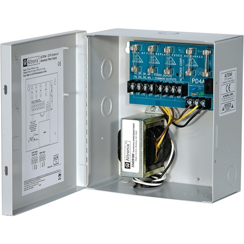 Altronix 4 Fused Outputs CCTV Power Supply. 24VAC @ 4A or 28VAC @ 3.5A