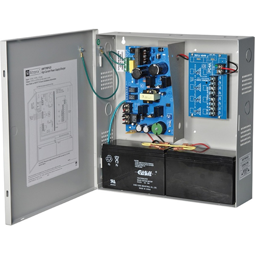 Altronix 4 PTC Outputs Supervised Power Supply/Charger. 12/24VDC @ 6A. Grey Enclosure