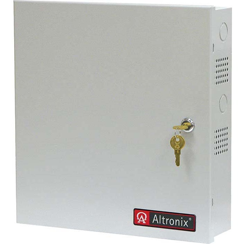 Altronix 8 PTC Outputs Supervised Power Supply/Charger. 12/24VDC @ 2.5A. Grey Enclosure