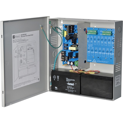 Altronix 16 PTC Outputs Supervised Power Supply/Charger. 12/24VDC @ 6A. Grey Encl.