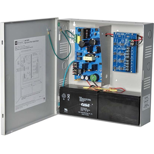 Altronix 4 Fused Outputs Supervised Power Supply/Charger. 12/24VDC @ 6A. Grey Encl.