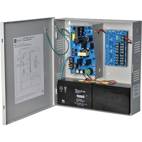 Altronix 8 PTC Outputs Supervised Power Supply/Charger. 12/24VDC @ 6A. Grey Enclosure