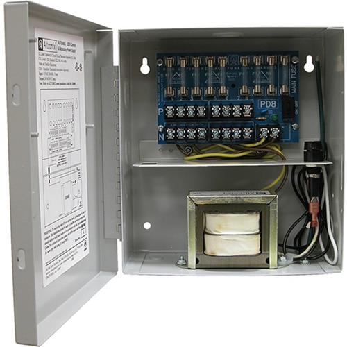 Altronix 8 Fused Outputs CCTV Power Supply. 24VAC @ 4A. 220VAC Input
