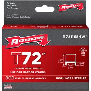 Arrow T72 Fasteners