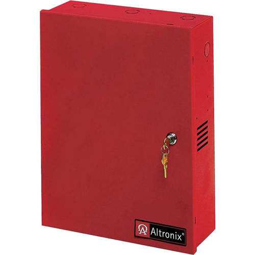 Altronix 8 PTC Outputs Power Supply/Access Power Controller. 24VDC @ 10A. Red Enclosure
