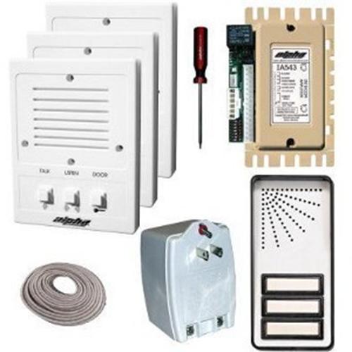 Alpha 3- Unit Apt. Intercom Kit+Wire