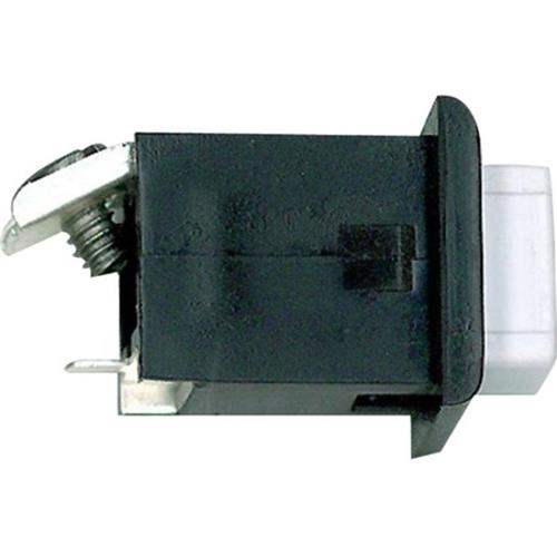 Alpha ST008 Push Button-Black/White-1 Screw