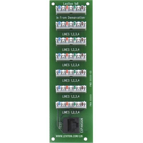 Leviton 1x6 Bridged Telephone Expansion Board (4 Lines Up To 6 Locations)